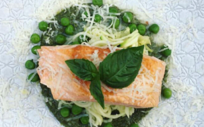 Wild Salmon w Superfood Pesto & Zoodles