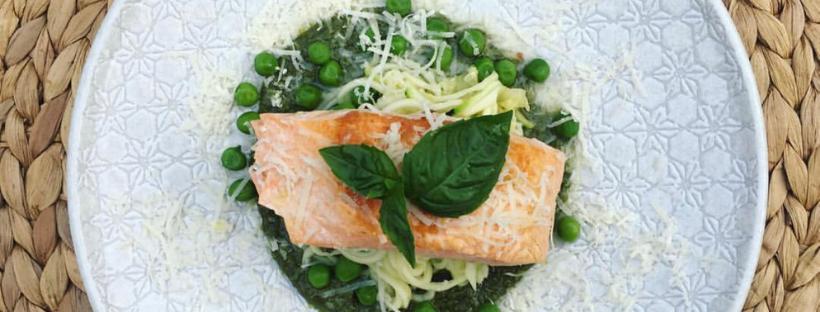 Wild Salmon w Superfood Pesto & Zoodles