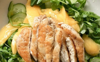 Lemon Myrtle Chicken w mango summer salad